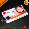 Memoria Flash promocional del USB del eslabón giratorio de la tarjeta del regalo de la insignia de encargo