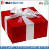 Caja de papel roja de empaquetado de la caja del regalo del festival