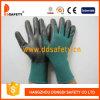 Темно - зеленое Nylon с Black Nitrile Glove-Dnn814