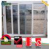 Белая раздвижная дверь цвета UPVC/PVC двойная стеклянная
