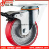 PU auf Iron Total Lock Swivel Caster