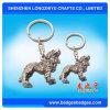 anello d'argento antico di Keychain personalizzato Keychain del leone 3D