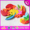 Cheap Wooden Educational Toy Animal Alphabet Puzzle Toy for Learning W14I031