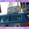Fábrica al aire libre lateral doble de la pantalla de visualización de LED de la tapa del taxi P5