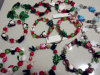 Colored Glass Handicrafts Christmas Bracelet Decorations
