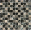 Wallのための25*25パチパチ鳴る音Crystal Glass Tiles Mosaic