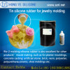 Adição transparente elevada silicone moldando curado para a jóia