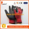 10 gants enduits de sécurité de latex de gants tricotés par outil (DKL331)