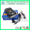 セリウムApproved (QWP-VS2524U)との12V/24V Solar Regulator 25A Solar Controller