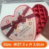 Grande boîte en forme de coeur de papier rouge de mariage de boîte de faveur