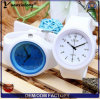 Yxl-984 새로운 형식 석영 시계 실리콘은 여자 남자 소녀를 꽃 묵 스포츠 시계를 주시한다