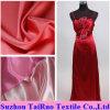 Tela de seda brilhante do cetim do poliéster para a tela do vestido de noite