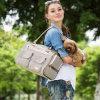 縞犬の買物袋のハンドバッグ
