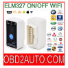 Mini327 Elm327 Auto Scanner 온/오프 Swith OBD2 Scanner OBD2 Code Reader WiFi Version V2.1