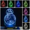 La force de Star Wars réveillent la lampe changeante de lumière de Tableau de bureau du commutateur DEL de contact de couleur de la nuit 7 de Bb-8 Droid 3D