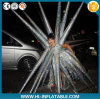 Verrücktes Inflatable Silver Performance Costume Lady Gaga Wearing Star Decoration für Stage Party Club Decoration