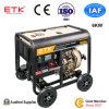 휴대용 작은 단일 위상 디젤 엔진 발전기 세트 (6KW)