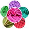 DOT Embossed Micro Velboa Fabric Velboa E-F Minky Fabric per Massage Cushion Cover Baby Car Seat