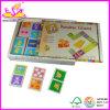 Gioco di legno di domino dei 2014 bambini del gioco, giocattolo educativo di domino dei bambini, domino di legno di vendita caldo Wj277611 stabilito dei bambini del giocattolo
