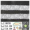 Cordón elástico de la ropa interior hermosa blanca del color para las mujeres X6735