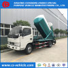 Carro fecal de la succión de las aguas residuales del carro 5000L de la succión del pequeño vacío