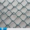 Frontière de sécurité carrée galvanisée bleue de maillon de chaîne de treillis métallique