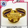 Metallabzeichen-Pin überzogenes Gold des Entwurfs-3D
