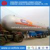 Petrolero de camino del Tri-Árbol 56000L LPG 20 toneladas del LPG de acoplado del tanque para Tanzania