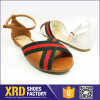 Сандалии Shhoes /Women венчания пальца ноги пляжа открытые кожаный