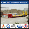 2axle Lowbed Concavo-Beam Trailer Without Cover su Tire