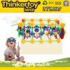 Brinquedo inteletual educacional plástico do compasso do trem dos miúdos mini