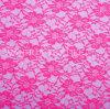 Merletto chimico ricamato elastico rosso del tessuto del merletto della Rosa di modo