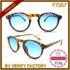 Do teste padrão plástico de Demi da forma F7267 redonda Eyeglass clássico de Sun