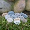 Os seixos do presente imploraram a pedra do seixo