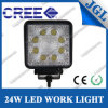 4WD Headlamp 12V 24V 24W LED Work Light Square