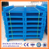 Powder Coated Blue Metal Pallet for Warehouse Storage and Transportation
