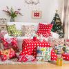 De afgedrukte Reeks van Kerstmis van het Katoenen Hoofdkussen van het Canvas