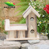 Due Holes Wood Handmade Bird House per il giardino