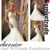 2014new Elegant Mermaid V Neck Train Wedding Dress Wear