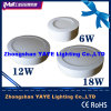 CE/RoHSのYaye 2015年のBest Sell 6With12With18W Round Surface Mounted LED Panel Lights