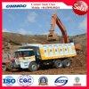 Carro de descarga de la piedra de la arena de la roca/camión resistentes del volquete