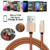 Authentisches PU-ledernes Mikro USB-Kabel für iPhone