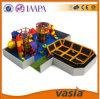 A manufatura de China do parque de diversões caçoa da ginástica interna agradável do projeto dos brinquedos o Trampoline interno do equipamento com associação da esponja