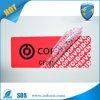 Nietige Sticker van de Garantie van de Veiligheid van de Stamper van de Overdracht van de douane de Gedeeltelijke Duidelijke
