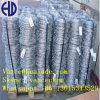 El PVC cubrió el alambre de púas galvanizado sumergido caliente de Electrol