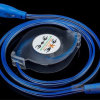 Cable ligero móvil ligero del USB del LED para el teléfono elegante