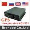 H. 264 4チャネルの手段SDのカードの携帯用車DVR