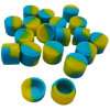 Высокое качество подгоняло малый контейнер воска ЛИМАНДЫ опарников силикона 3ml, круглый контейнер силикона