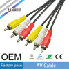 Sipu 30AWG 3RCA al cable de 3RCA sistema de pesos americano para el vídeo