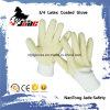 3/4の黄色い乳液のしわの終了する安全袖口の手袋が付いている綿かジャージーはさみ金